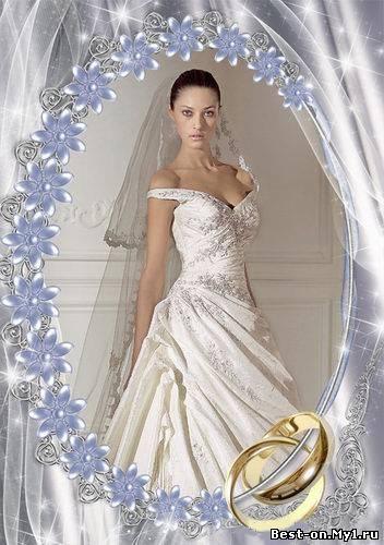 Свадебная рамка гламур для photoshop